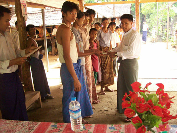 On May 2nd 2008 the cyclone Nargis struck the west coast of Myanmar. We were able to provide hundreds of displaced adults and children with shelter and the basics necessities for survival
