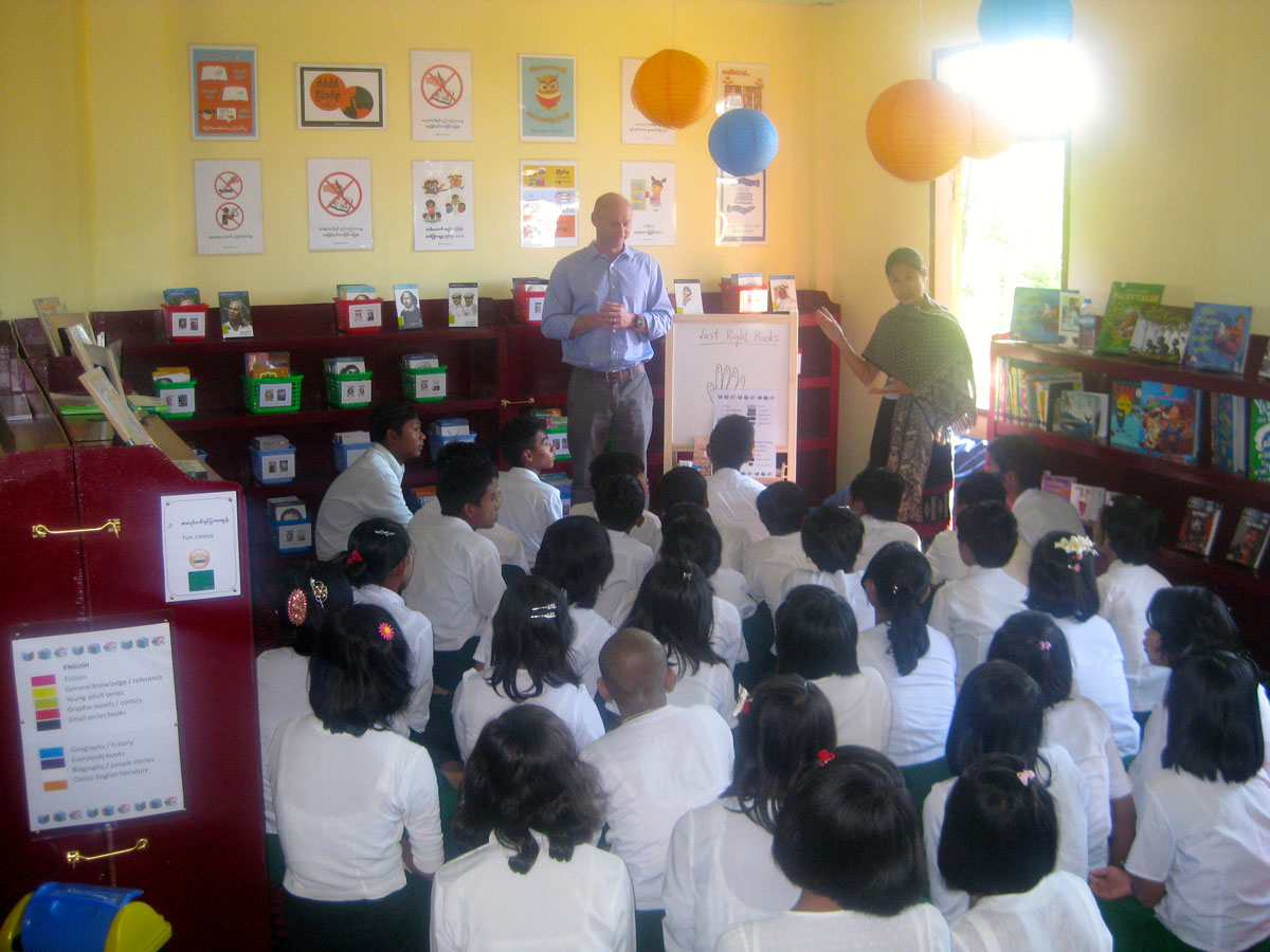Building 100 schools in Burma - PACE Tetma library