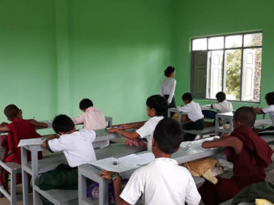 Building 100 schools in Burma Primary school in Kone Tar village in Mandalay division