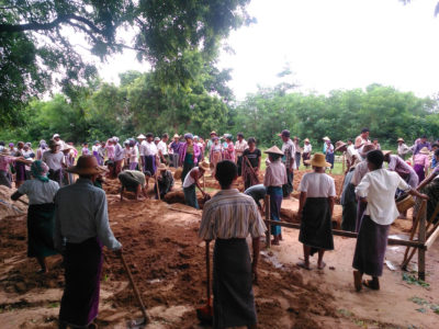 Building 100 schools in Burma middle school in Sagaing Division in the village of Mye Net