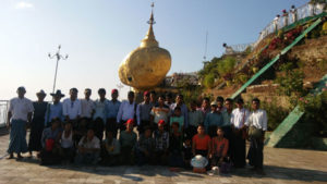 The 100 School's Crew takes a Break visit the beach on the Andaman Sea and Myanmar's famous Golden Rock