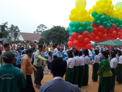 News 100schools - Building Schools in Burma Myanmar - New Openings - Yge Gwne - Middle school