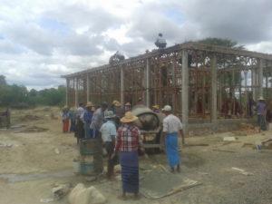 Build schools in Burma Myanmar - Building Primary school in Sataung - Mandalay Division - 100schools, UK registered charity