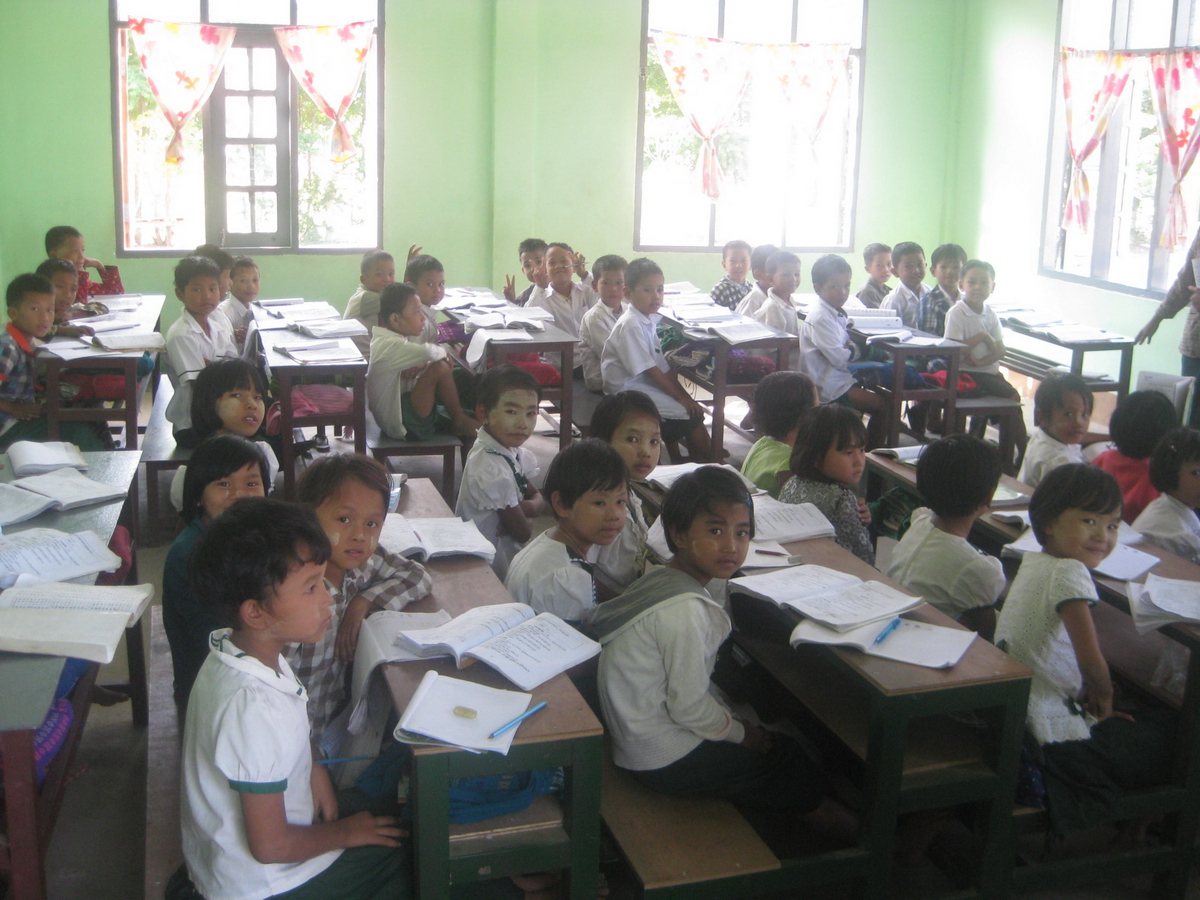 Build schools in Burma Myanmar - Building Primary school in Ah Shae Ngae Toe - Mandalay Division - 100schools, UK registered charity