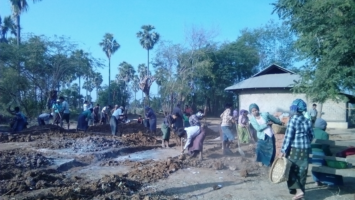 Build schools in Burma Myanmar - Building Primary school in Sekalay - Mandalay Division - 100schools, UK registered charity