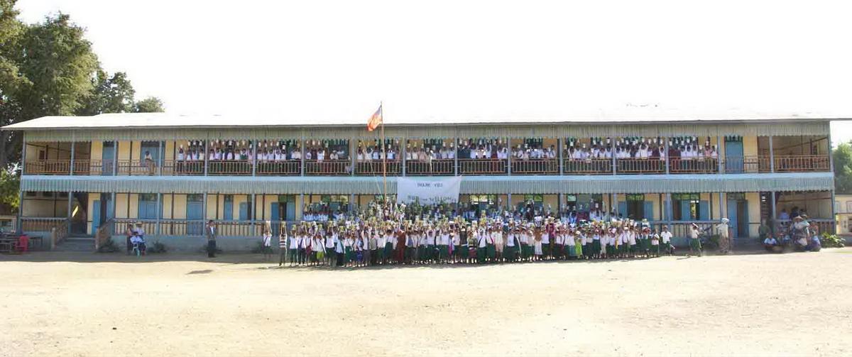 Build schools in Burma Myanmar - Building Jr High School in Hti Hlaing - Sagaing Division - 100schools, UK registered charity