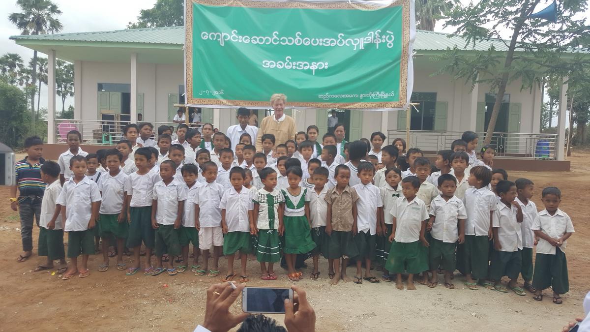 Building schools in Burma Myanmar - New openings Sekalay and Seytoe primary schools