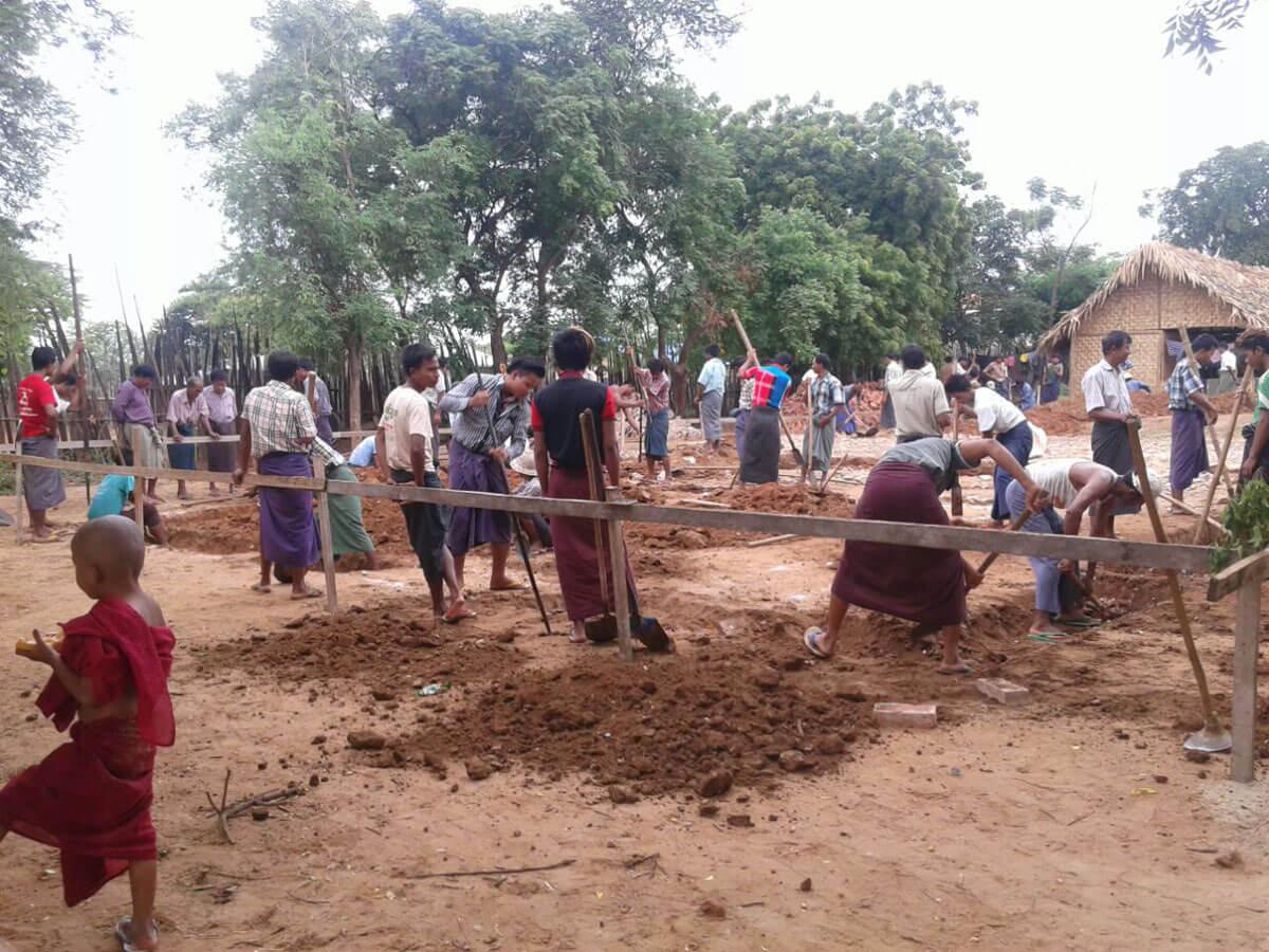 Build schools in Burma/Myanmar-Building middle school in Nwar Cha Gyi Kone