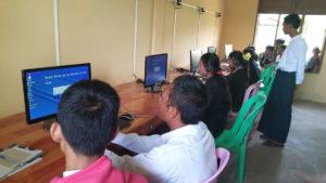 A new computer lab at Daw Hut Taw Jr. high school near Mandala