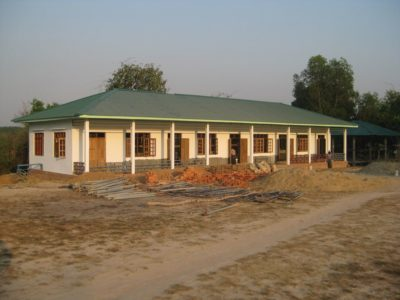 Finished construction on a primary school in Bago division