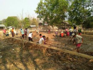 In the beginning of April we began work on another primary school near Loikaw in Kayah State.