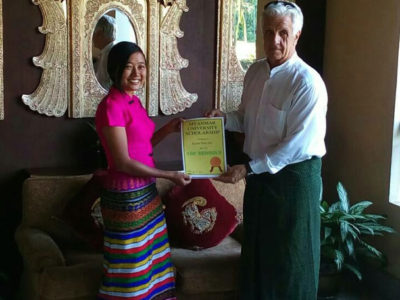 100schools - Burma - Scholarship program - Kyawt Thiri Zaw